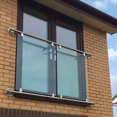Glass Juliet Balcony - metre to 2 metre Juliet Balkon Glass Juliet Balcony, Juliette Balcony, Glass Balcony, Porch Windows, Front Door Porch, Balcony Curtains, Attic Rooms, Interior And Exterior, Extension Ideas