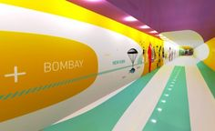 Wayfinding | Airport, feature wall