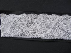 Binche Bobbin Lace Flemish Century 61 x 6 4 CMS 24 x 2 5 Inches Lace Doilies, Crochet Doilies, Bobbin Lacemaking, Antique Lace, Vintage Linen, Vintage Handkerchiefs, Lace Making, Lace Patterns, 18th Century