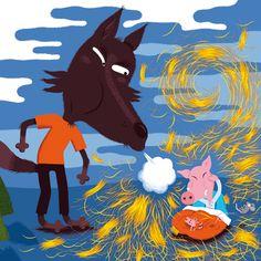"www.sylvie-bessard.com   le blog: > ""Les Trois Petits Cochons"" en librairie. Three Little Pigs, Moose Art, Blog, Anime, Blogging, Cartoon Movies, Anime Music, Animation, Anime Shows"