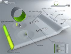 Alarming 'Ring' concept vibrates finger to wake you up #innovative #alarm #gadget