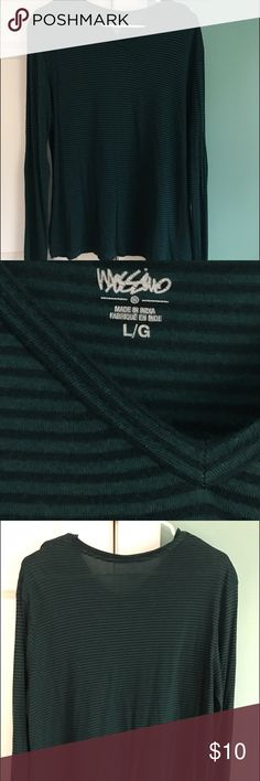 MOSSINO: long sleeve striped t LARGE: Super comfortable long sleeve t. Stretch and give. 44% viscose, 33% cotton, 23% modal. Please use the offer button to negotiate pricing.  No trades, PayPal or off-site transactions. 🚫 Mossimo Supply Co. Tops Tees - Long Sleeve