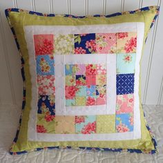Got scraps?! Patchwork Pillow tutorial on my blog....because I couldn't let my Aloha Girl left overs just sit in a box. #showmethemoda @figtreeandco