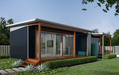 A granny flat can allow homeowners the opportunity to take advantage of an asset they already have: their backyard. With the rental market at capacity, . Backyard House, Backyard Studio, Garden Studio, Granny Flat Plans, Granny Pod, San Diego Houses, Indoor Outdoor Living, Outdoor Spaces, Patio Roof