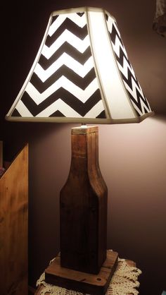 hand painted chevron lamp shade by @Hayley Wilkens  SOLD!  contact us for a custom piece #studiofargo