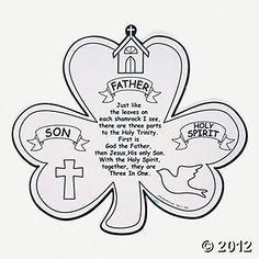 Holy Trinity Shamrock Coloring Page Printable | Third, Sunday ...