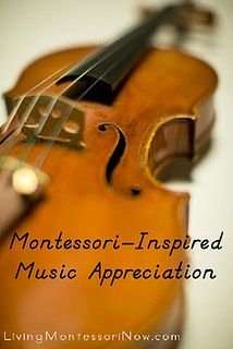Montessori-Inspired Music Appreciation - Links to free and inexpensive printables and activities for helping young children develop an appreciation of music