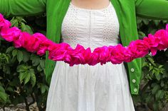 crepe paper flower garlands #party #decorations #ideas #flowers
