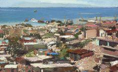 Yisrael Dror Hemed, Port, 2012, oil on canvas, 60x96 cm