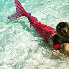 Day dreaming of in our rio red mermad tail! The fin fun mermaid tail… Mermaid Pose, Mermaid Man, Mermaid Swim Tail, Mermaid Tails For Kids, Mermaid Spells, Professional Mermaid, Mermaid Pictures, Real Mermaids, Crystal Clear Water