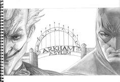 Joker & Batman - Arkham Asylum By Evi Stm