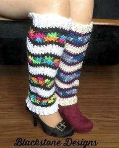 Kaleidoscope Leg Warmers free pattern by Blackstone Designs