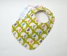 Organic baby bib / Elephant baby / Organic by TextileTrolley, $12.00