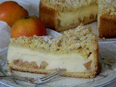 Apfelkuchen mit Vanillecreme und Streuseln, ein leckeres Rezept mit Bild aus der Kategorie Kuchen. 58 Bewertungen: Ø 4,6. Tags: Backen, Kuchen