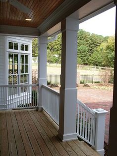Exterior Wrap Around Concrete Porch Design Pictures