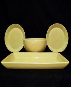 I wanted yellow back in the 90's when I got my Teema plates. Kaj Franck for Arabia Finland Teema Yellow-