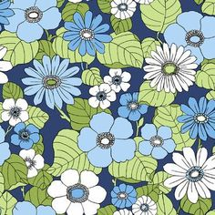 """Brewster Home Fashions Wall Vision 33' x 20.9"""" Capriana Floral Burst Wallpaper Color: Navy"""