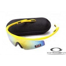 Oakley M Frame Sunglasses Polished Yellow Frame / Fire Iridium Lens