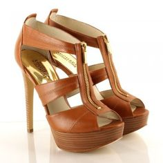 Micheal Kors Tan Berkley Platform Women's Sandal