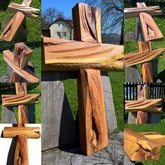Dřevořezba - kříž jako dekorace
