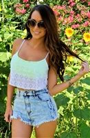 sexy mint crochet cropped cleavage top with trendy updated look, glam 80's rocker style, sexy mini crochet festive crop tops that are cleavage tops, trendy cleavage tops, sexy mint crochet crop low cut tops, trendy tops, sexy tops, cropped tops, glam top