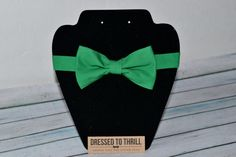 Kelly green bowtie for baby / toddler / little boy / child.  Handmade in Texas by Dressed to Thrill, specializing in ties, bowties, and suspenders for the sweet and stylish.  www.idresstothrill.com