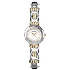 BRIDGEPORT WHITE Gold and Silver Two Tone Stainless Steel Watch for Women