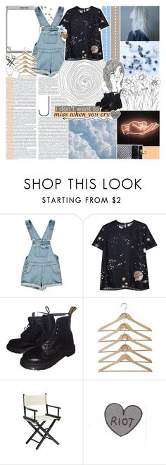 """""""[🌌] glass over diamond blue eyes"""" by korekara ❤ liked on Polyvore featuring Boohoo, Valentino, Dr. Martens, Luli and Pier 1 Imports"""