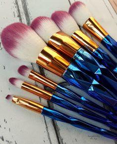 www.beautybigbang.com   Unicorn Makeup Brushes Set Unicorn Brush Set, Unicorn Makeup Brushes Set, Makeup Brush Set, Makeup Tools, Make Up, Beauty, Set Of Makeup Brushes, Makeup, Beauty Makeup