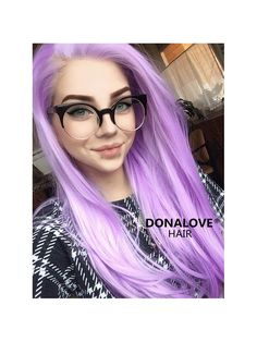 Purple Waist-length Straight Synthetic Lace Wig-SNY027 - SYNTHETIC WIGS - DonaLoveHair