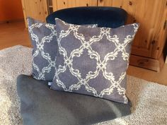 Kissenbezug 40x40 hellgrau dunkel grau Ornament modern Kissenhülle ohne Kissen | eBay