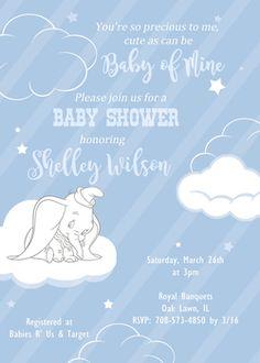 Baby Dumbo Baby Shower Invitation