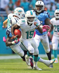 Titans vs. Dolphins:  30-17, Titans  -  October 9, 2017  -     Miami Dolphins Jakeem Grant returns a kick for a second quarter touchdown as they play the Tennessee Titians at the Hard Rock Stadium in Miami Gardens, Florida, October 9, 2016.
