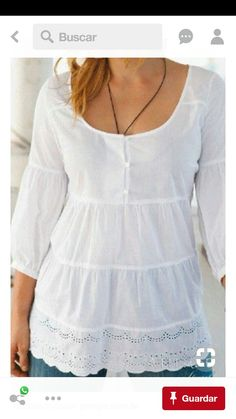 blusas simples cambraia -spring summer - Luxe Fashion New Trends - Fashion for JoJo Fall Outfits, Cute Outfits, Fashion Outfits, Womens Fashion, Sewing Clothes, Dress Patterns, Blouse Designs, Casual Wear, Plus Size Fashion