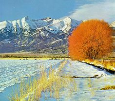 Mount Blanca. This mountain is known to the Navajos as the Sacred Mountain of the East. San Luis Valley, CO