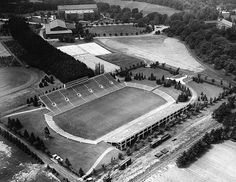Aerial photo of Spartan Stadium, 1947 by Michigan State University Archives, via Flickr