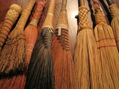 Antique American Made Besom - Brooms   North Bayshore Antiques