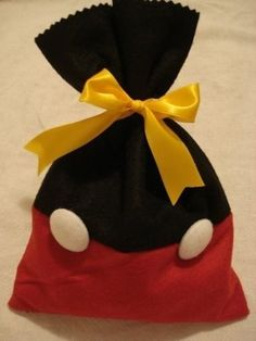 Mickey pants favor bag - @Kari Denison Why have none of your children ever had a Mickey party?!?