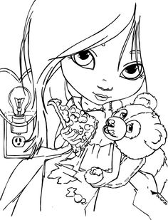 emo bear coloring pages | emo-anime-coloring-pages-19 | Anime/Manga/drawings | Bear ...