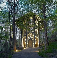 Thorncrown Chapel in the Ozarks at Eureka Springs Arkansas