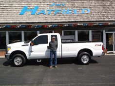 HECTOR's new 2014 ford f-250! Congratulations and best wishes from Jay Hatfield Ford and Scot Fisher.