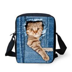 3D Animal Print Cross Body Bag