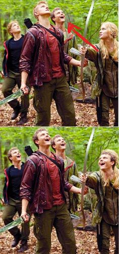 "#Marvelous hahaha, best Hunger Games picture ever. Jack Quaid is probly looking at this being like ""and i thought i had a small acting role..until this picture"""