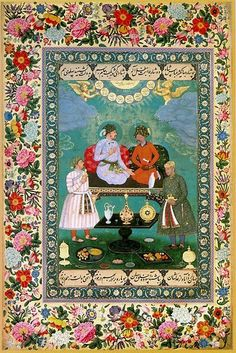 Abu al-Hasan died circa from Delhi, India, was a Mughal painter under the reign of Jahangir. Mughal Paintings, Indian Paintings, Persian Motifs, Mughal Empire, National Art, Arabian Nights, North Africa, Beautiful Paintings, Islamic Art