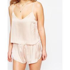 9766b406f0 ASOS PETITE Satin Cami   Short Pyjama Set (3190 RSD) ❤ liked on Polyvore  featuring intimates