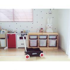 makishimakishimaさんの、部屋全体,IKEA,イケア,和室,新居,おままごとキッチン,キッズルーム,トロファスト,キッズスペース,新築,おうち,BRIO,マイホーム,miffy,注文住宅,キッズインテリア,kids space,TROFAST,Myhome,こどもと暮らす。,miffylamp,のお部屋写真