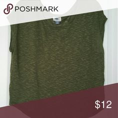 Old Navy olive green top Cap sleeve top Old Navy Tops Blouses