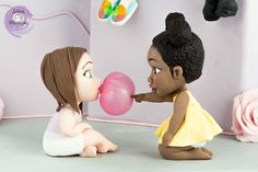 Baby friends - characters in sugar paste