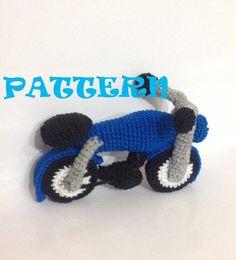Pattern  Motor Bike  Amigurumi Crochet Pattern by TharunDharansMom, $5.00