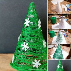 15 Christmas decor tutorials for the home - DIY and crafts - noel Handmade Christmas Decorations, Diy Christmas Tree, Christmas Crafts For Kids, Xmas Crafts, Christmas Projects, Simple Christmas, Diy And Crafts, Christmas Ornaments, Decor Crafts